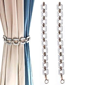 IHC Link - 2 abrazaderas para cortinas y ventanas con hebillas para sujetar cortinas o cortinas: Amazon.es: Hogar