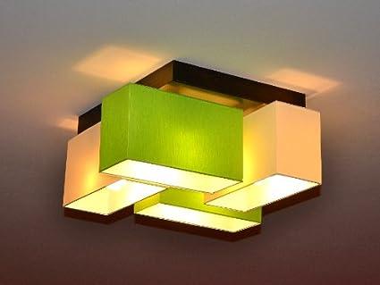 Schön Deckenlampe Deckenleuchte Lampe Leuchte 4 Flammig TOP Design Merano B4MIX  (Creme   Grün)