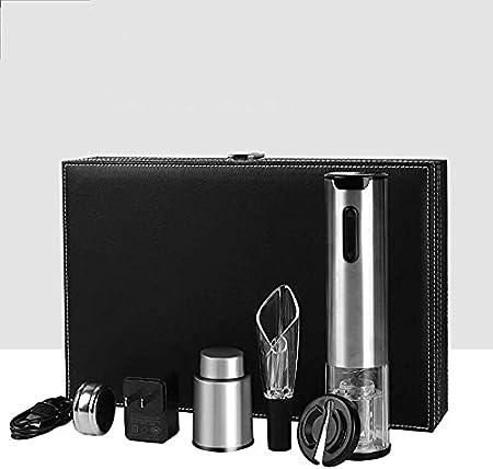 Sacacorchos eléctrico para el hogar creativo vino tinto, activación eléctrica, botella multifunción, botella en espiral, set de regalo