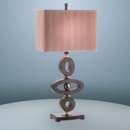 Eurofase 17370-011 Galliano 1-Light Table Lamp, Black/Brown/Antique - Contemporary Floor Lamp Lighting Eurofase