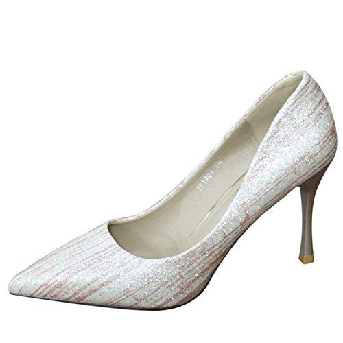 38 Zapatos Baja con Boca Elegante Solo Alto Temperamento de YMFIE del Moda Zapatos los de 34 Fiesta UE Europea tacón Banquete EU Bien 6HAwx4