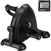 AGM Mini bicicleta de apartamento con monitor digital y pedal antideslizante, ligera, fácil de usar, almacenamiento y…