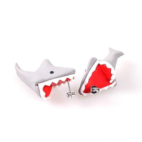 d181b068f 925 Silver Pin Handmade Polymer Clay Cute Dinosaur Earrings For Women Girls  Kids,3D Animal
