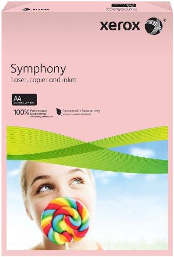 Xerox 003R93970 farbiges Druckerpapier Kopierpapier Symphony pastell Din A4, 80 g/m², 500 Blatt pro Pack, rosa