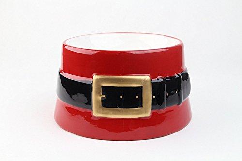 Midlee Santa's Belt Pet Bowl