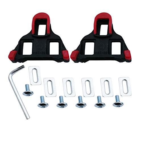 - Bike Cleats for Cycling Shoes 6 Degree,Indoor Spin & Road Bicycle Clips Set Compatible with Shimano SPD-SL - Red