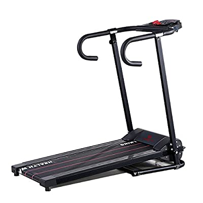 Fitnessclub 500W Folding Electrical Running Motorized Machine Treadmill Fitness Exercise Grey Black