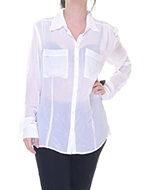 Guess Charlotte White Shirt Size S