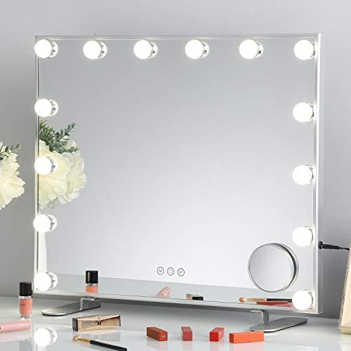 FENCHILIN Lighted Makeup Mirror Hollywood Mirror Vanity Makeup Mirror