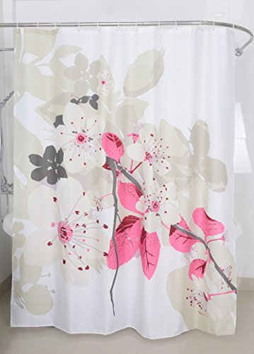 Amazon Magic Vida Decorative Lush Flowers Peach Tree Shower Curtain Nature Series With Vivid Color Brighten Bathroom 72 Inch By