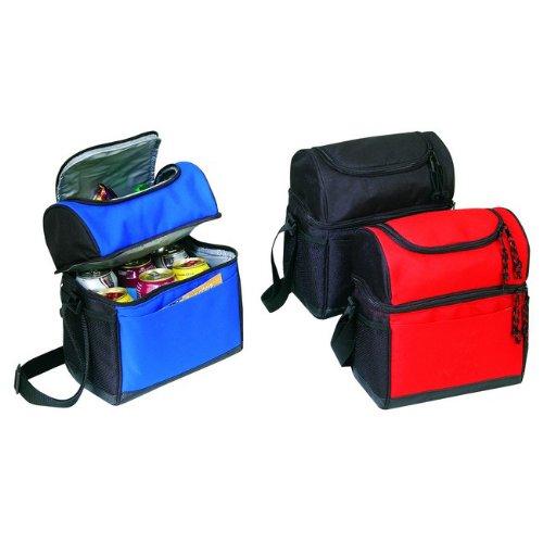 Black - Cooler Lunch Bag w/ Leather-like Bottom