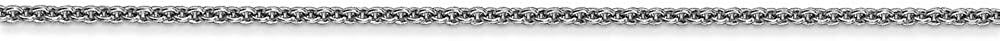 14k White Gold 1.5mm Solid Polished Cable Chain with Secure Lobster Lock Clasp