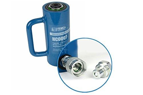 TEMCo HC0007 - Hydraulic Cylinder Ram Single Acting 10 TON 4