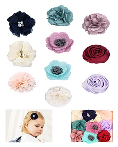 Fancy Clouds Girls Hair Bows flowers clips Barrettes,Lined Alligator,Hair Accessories for Baby Toddler Kids (flower1)