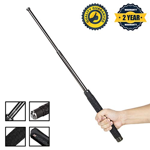 AAASP511 Portable Multifunctional Self Defense Pen Hammer Camping Hiking Survival Emergency Tools - 26 inch (Black)