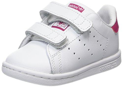 adidas Baby Mädchen Stan Smith Sneaker Elfenbein (Ftwwht/ftwwht/bopink Bz0523)