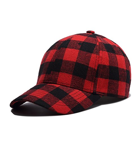 primerry Red (Fashion Cotton Quality) Flat Along Hip-Hop Baseball Cap Hat by primerry