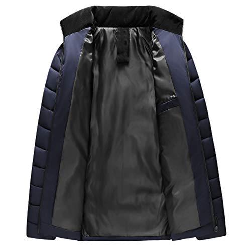 Cappotto Blu Inlefen L'autunno Abiti E Uomo Caldo Scuro D'inverno Outwear Zip Manica Maschili Lunga Giacca avqOg