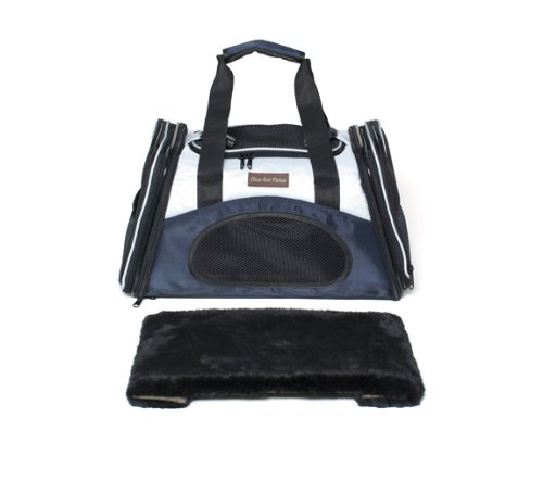 One for Pets The One Bag Expandable Pet Carrier, Large, Black - Car & Luggage Fixture Included