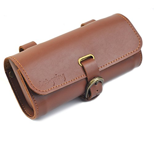Let-gong Cycling Handmade England Vintage Back or Handlebar PU Bags 1895cm (Brown B)