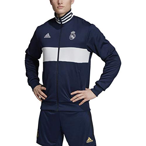 adidas Men's Real Madrid 3S Track Top 2019-20 (Medium) Night Indigo/White