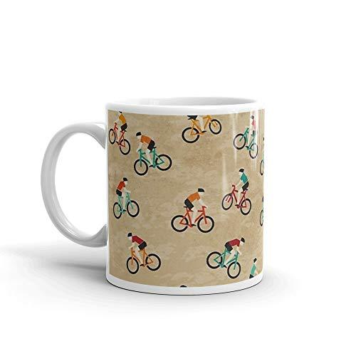 Mountain Biking at Hadleigh Castle Country Park Mug 11 Oz White Ceramic (Castle Hadleigh)