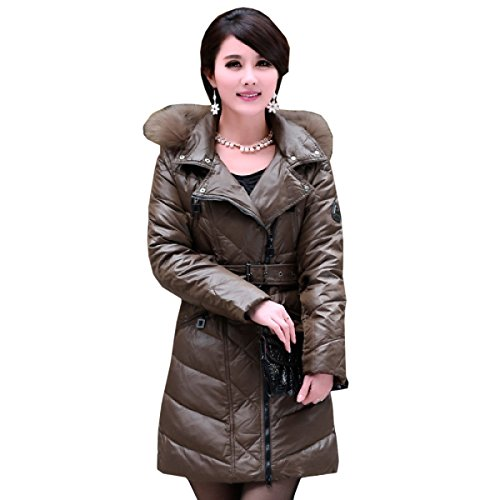 Thin Thin Long Eiderdown Simple Down Lady Section Coat Waist Outwear cultivation Jacket Self Down Coat D nihiug Was fdY6q8Y