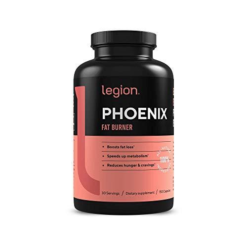 Legion Phoenix Thermogenic Fat Burners & Weight Loss Pills – 30 Serv, 90 Capsules