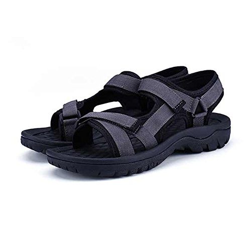 Sandals MAZHONG Men's Summer Soft Bottom Non-slip Men's Beach Shoes Youth And Slippers (Color : Black, Size : EU39/UK6/CN39) Gray