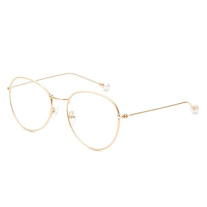619f2eb88d MUCHAO Mujer masculina Gafas para la miopía De moda Vintage Gafas redondas  Lentes de resina de marco de metal: Amazon.es: Ropa y accesorios