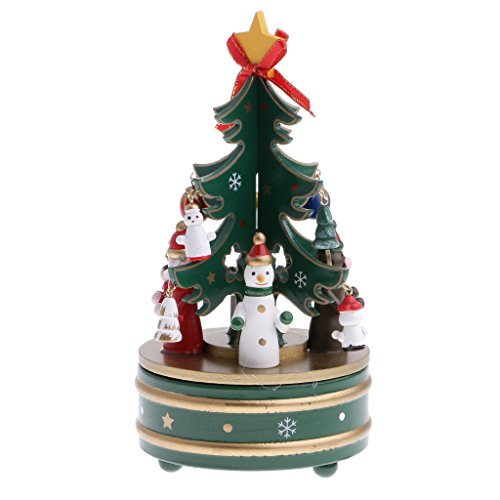 MagiDeal Christmas Tree Music Box Kid Wind Up Musical Toy Snowman Xmas Party Showcase Decoration Clockwork by MagiDeal
