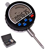 Anytime Tools 0-1'' Travel DIGITAL ELECTRONIC INDICATOR DIAL GAUGE GAGE INCH/METRIC Simulated Dial Programmable w/Absolute and Tolerance