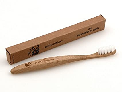 ecobamboo cepillo de dientes tablero de fibras de madera cepillo de dientes Vegan, biodegradables,