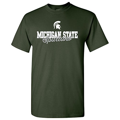UGP Campus Apparel AS17 - Michigan State Spartans Fresh Script T-Shirt - Large - Forest - Michigan State Spartans Apparel