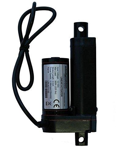 2 Inch 2 Stroke Linear Actuator 12 Volt 12V 225 Pounds lbs Maximum Lift