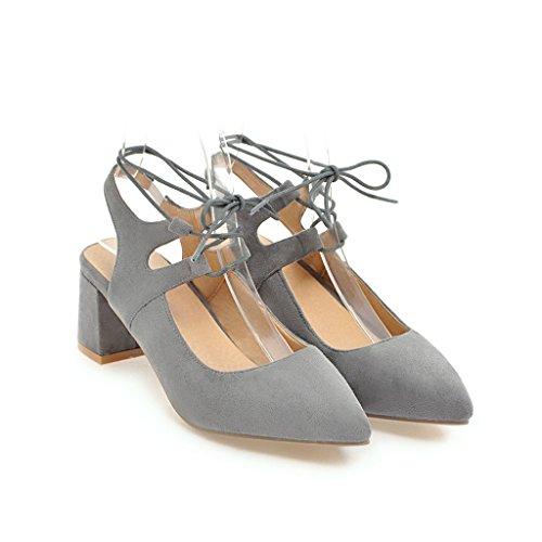 la donne della con croce luce e delle e Elegante punta nella pattini grossolana confortevole gray singoli nzwATR