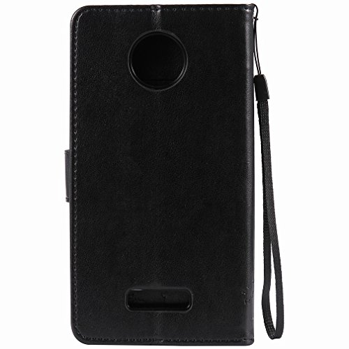 Moto Dibujo negro Cover Ranura Motorola Estuches Cuero Protector Para Yiizy Piel Tarjetas Z Pu Diseño Billetera Cáscara De Force Funda Estilo Carcasa Árbol 5S4n0nwqgx