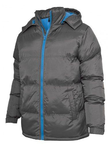 Urban Classics Bubble Long Jacket TB337, Farbe:dark grey/turquoise;Größe:L