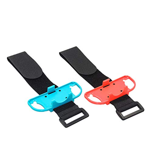 Nrpfell 1 Pair Adjustable Elastic Dance Wrist Band Strap Wristband For Nintend Switch Just Dance Joy-Con Controller