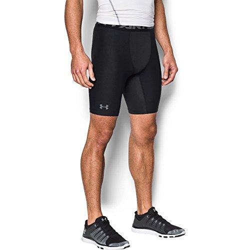 Under Armour Men's HeatGear Armour 2.0 Long Shorts, Black (001)/Graphite, Large
