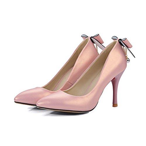 Alti Delle Donne Sottolineato Weipoot Di scarpe Pompe toe Rosa Tacchi Elaborazione Solidi Di on Dell'unità Pull rPSUr