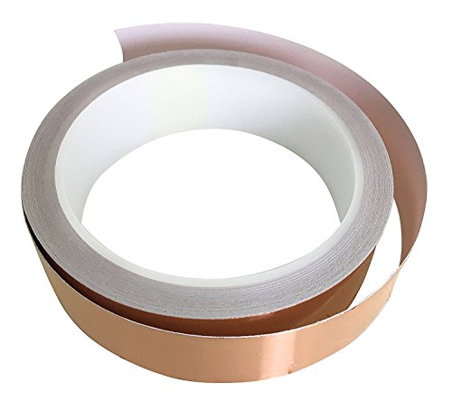 - Patio Eden Copper Foil Conductive Adhesive Tape - 36 ft x 1 inch - Slug Deterrent and Snail Repellent, EMI Shielding, and Stained Glass