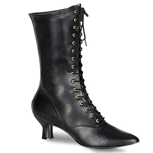 Funtasma by Pleaser Women's Victorian-120 Boot,Black,8