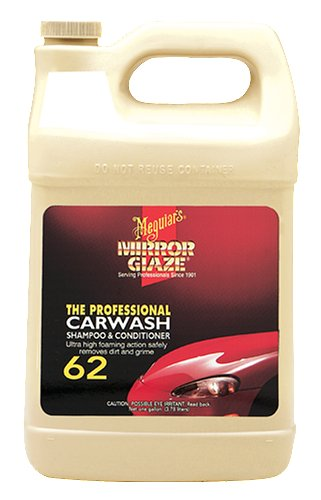 - Meguiar's M6201 Mirror Glaze Car Wash Shampoo & Conditioner, 1 Gallon