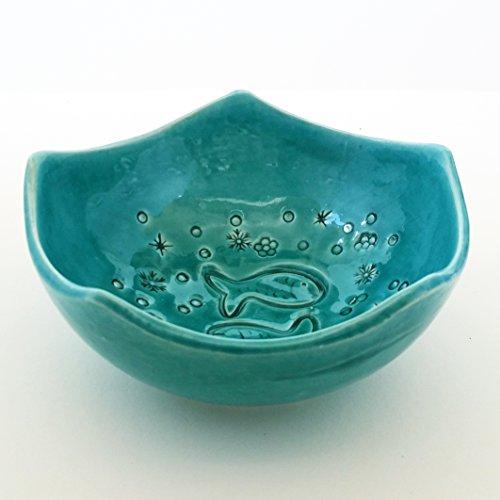 ArioCraft Handmade Decorative Ceramic Bowl, Turquoise Pottery, Kitchen Bowl ()