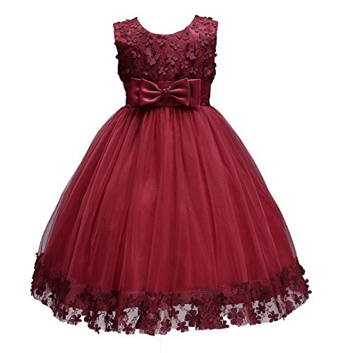 5ffcbef700a1 LIVFME 2-8T Flower Girls Dresses for Wedding Party Birthday Pageant Dress