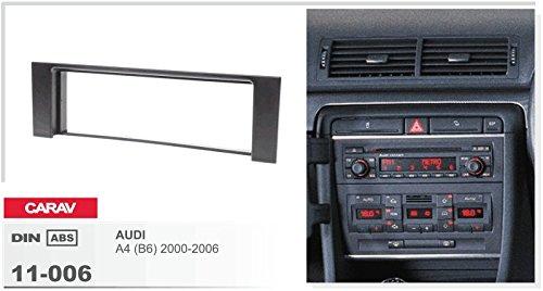B6 2000-2006 CARAV 11-006-a-12 DIN Autoradio Radioblende Set mit Aktiv Adapter f/¨/¹r Audi A4