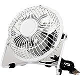 4-Inch Fan,Portable Fan, USB Fan, Desktop Fan,Mini Fan(White)