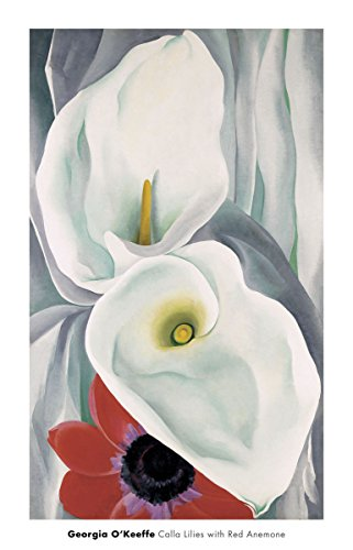 Georgia Okeeffe Calla Lily - Calla Lilies with Red Anemone, 1928 by Georgia O'Keeffe Painting Print