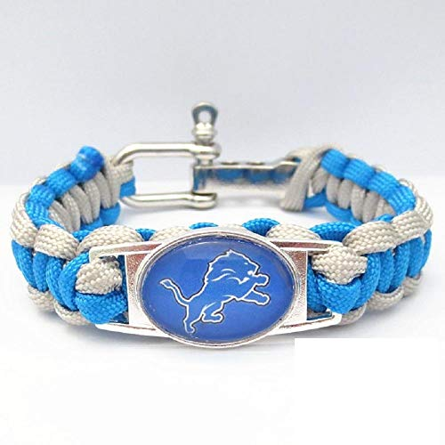 Swamp Fox Detroit Lions Football Paracord Bracelet Adjustable with Insert Pin 7